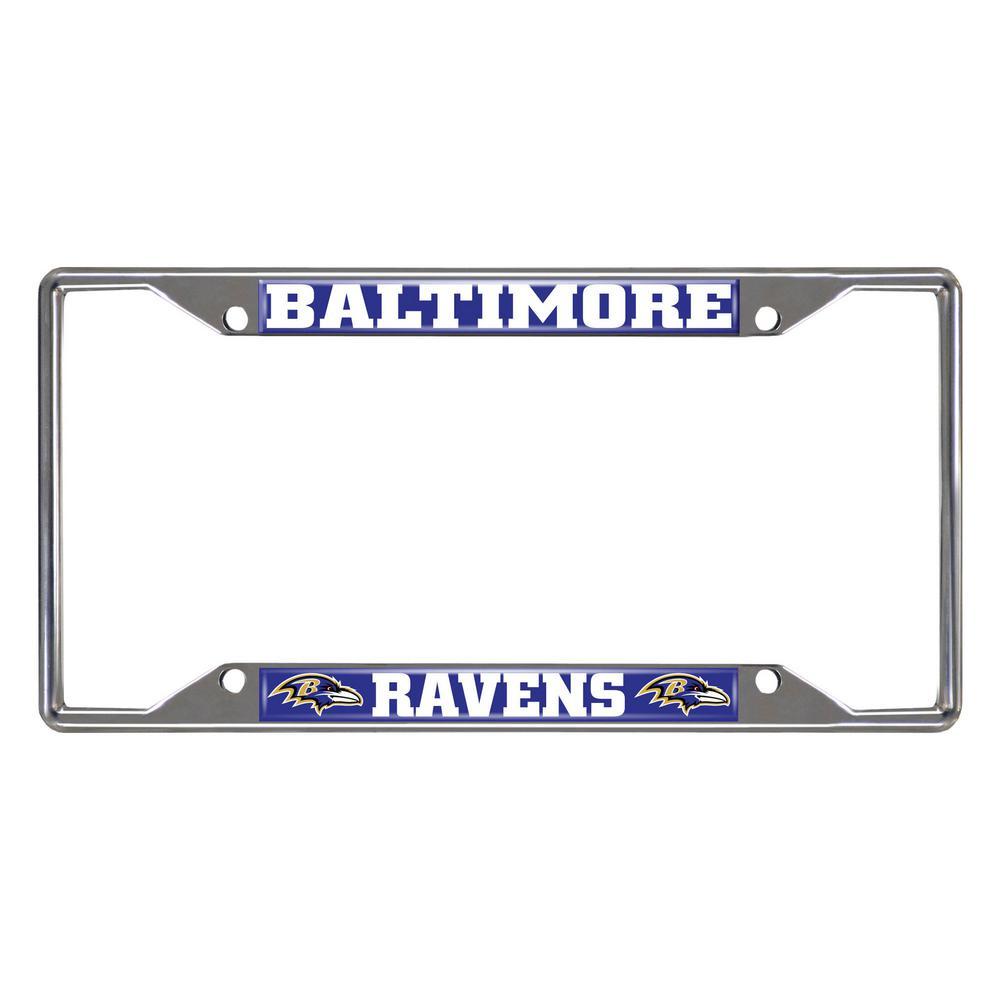 NFL - Baltimore Ravens Chromed Stainless Steel License Plate Frame