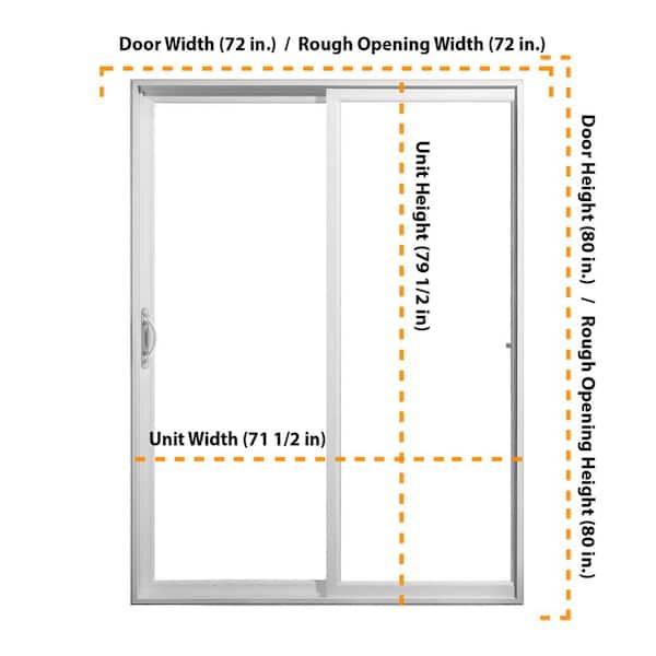Full Lite Sliding Patio Door, How Big Is A Standard Sliding Patio Door