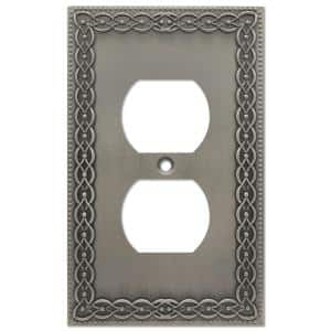 Amelia 1 Gang Duplex Metal Wall Plate - Antique Nickel