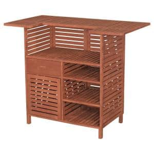 54 in. Patio Bar Table with Storage