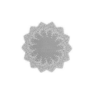 Blossom 42 in. W x 42 in. L White Floral Polyester Round Table Topper
