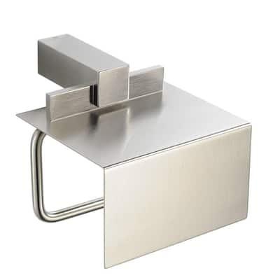 Ellite Single Post Toilet Paper Holder in Brushed Nickel