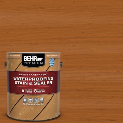 1 gal. #ST-533 Cedar Naturaltone Semi-Transparent Waterproofing Exterior Wood Stain and Sealer