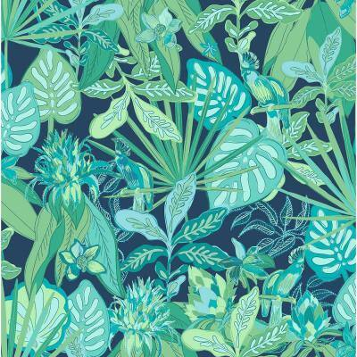 Blue Rain Forest Canopy Peel and Stick Wallpaper