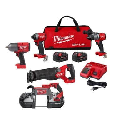 M18 FUEL 18-Volt Lithium-Ion Brushless Cordless Combo Kit (3-Tool) with 1/2 in. Impact Wrench and Deep Cut Band Saw
