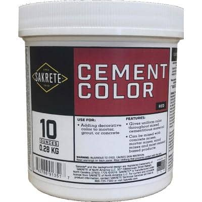 10 oz. Cement Color Red