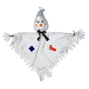 43 in. Shiny Hanging Halloween Ghost Figure (Set of 2)