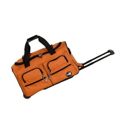 Voyage 22 in. Rolling Duffle Bag, Orange