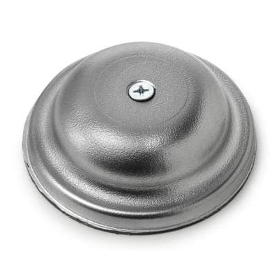4 in. Plastic Bell Cleanout Cover Plate in Chrome
