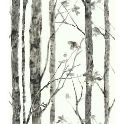 White and Grey Birch Trees Peel and Stick Wallpaper (Covers 28.18 sq. ft.)