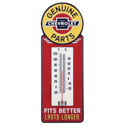 Chevrolet Water Resistant Embossed Tin Thermometer
