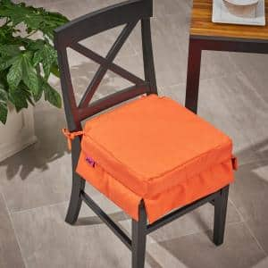 Old Orchard 16 in. x 3.15 in. Outdoor Fabric Classic Skirted Chair Cushion in Coral