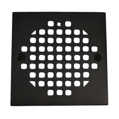 4-1/4 in. Square Cast Brass Heavy Duty Shower Strainer in Oil Rubbed Bronze