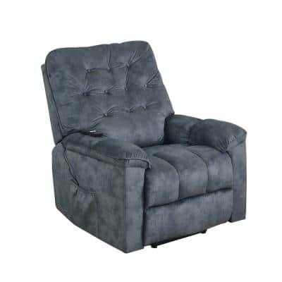 Gray Vintage Power Lift Soft Upholstery Recliner Sofa Chair with Remote