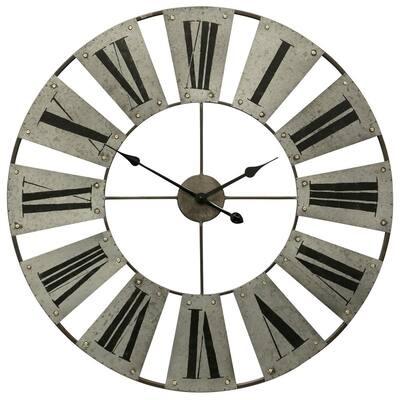 Roman Numerals Metal Wall Clock