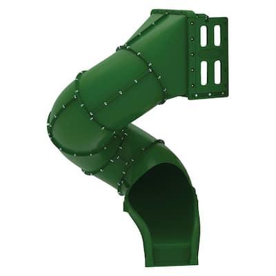 300-Degree Turn Green Spiral Tube Slide for 5 ft. Play Deck