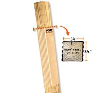 4 in. x 4 in. x 30 in. In-Ground HDPE Fence Post Decay Protection