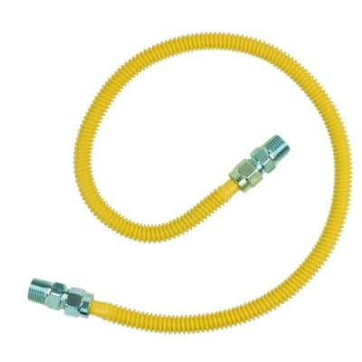 ProCoat 1/2 in. MIP x 1/2 in. MIP x 36 in. Stainless Steel Gas Connector 1/2 in. O.D. (71,100 BTU)