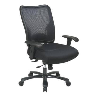 75 Series 30.3 in. Width Big and Tall Black Mesh Ergonomic Chair