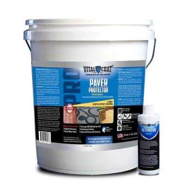 Paver Protector Pro 5 Gal. Water Base Acrylic Paver Sealant in Clear