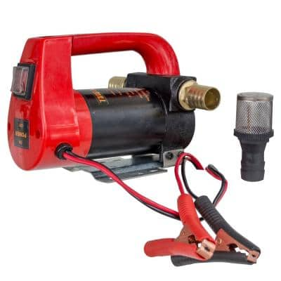 10 GPH High Flow Rate 12 Volt Portable Diesel Oil Pump