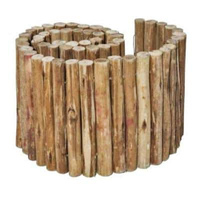 72 in. L x 12 in. H Eucalyptus Wood Solid Log for Landscaping Edging and Lawn Border, Flower Bed Garden
