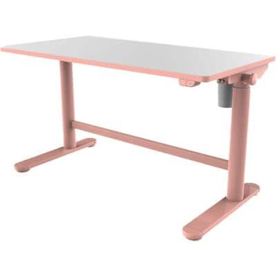 20 in. Pink Writing Desk with Electric Adjustable Heights