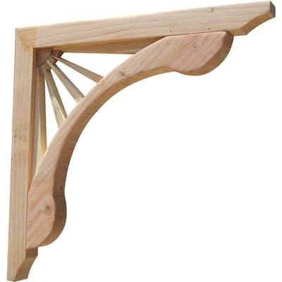 Sunburst 16 in. x 1.6 in. x 16 in. Designer Wood Corbel (2-Pack)