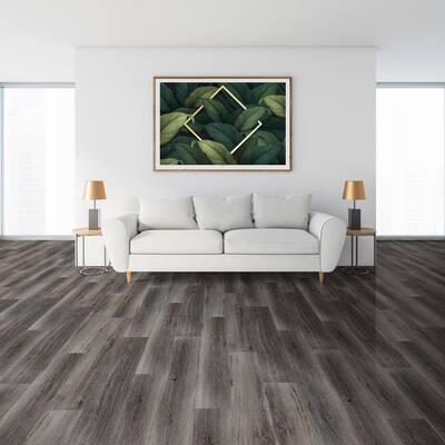 Regent Charcoal 9 in. W x 48 in. L Loose Lay Luxury Vinyl Plank Flooring (21 sq. ft./case)