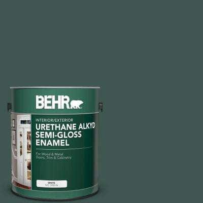 1 gal. Home Decorators Collection #HDC-CL-21A Dark Everglade Urethane Alkyd Semi-Gloss Enamel Interior/Exterior Paint