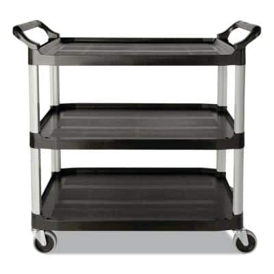 200 lbs. Holding Capacity Utility Cart with Swivel Casters in Black