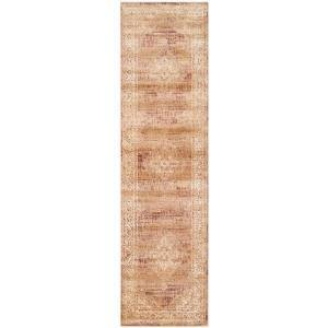 Vintage Taupe 2 ft. x 7 ft. Border Runner Rug
