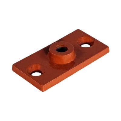 Rod Hanger Plate in Copper Epoxy Coated Iron for 3/8 in. Threaded Rod