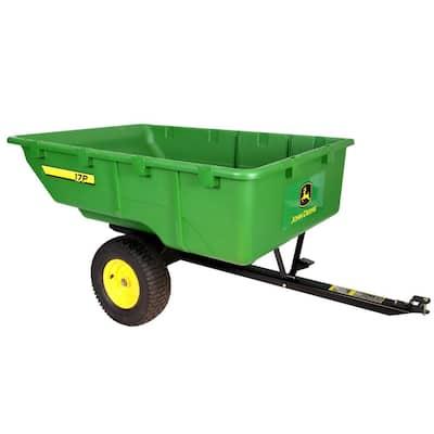 1,000 lb. 17 cu. ft. Tow-Behind Poly Utility Cart