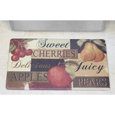 Chef Gear Scrumptious Fruit 24 in. x 36 in. PVC Printed Anti-Fatigue Kitchen Mat