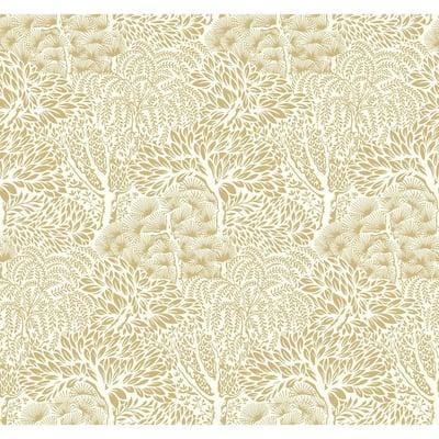 DwellStudio Miyuki Gold Paper Strippable Roll Wallpaper (Covers 60.75 sq. ft.)