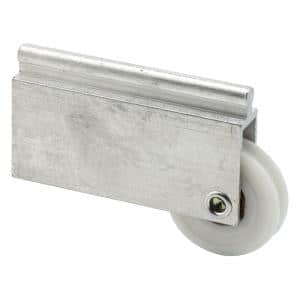 Mirror Door Roller Assembly, 1-1/2 in., Plastic Roller, Ball Bearings, Concave