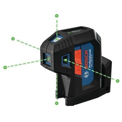 125 ft. Green 5-Point Self-Leveling Laser with VisiMax Technology, Integrated MultiPurpose Mount, and Hard Carrying Case