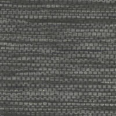 Cotabato Charcoal Grasscloth Charcoal Wallpaper Sample