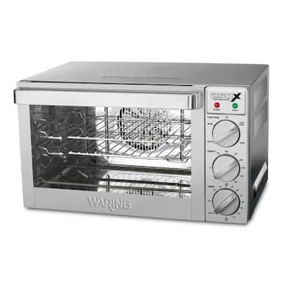Silver Quarter-Size Commercial Convection Oven