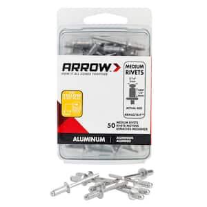 3/16 in. Medium Aluminum Rivets (50-Pack)