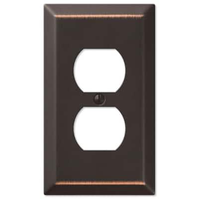 Aged Bronze Metallic 1-Gang Duplex Steel Wall Plate (6-Pack)