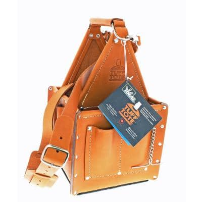10.75 in. Tuff-Tote Ultimate Tool Bag Carrier Premium Leather with Strap
