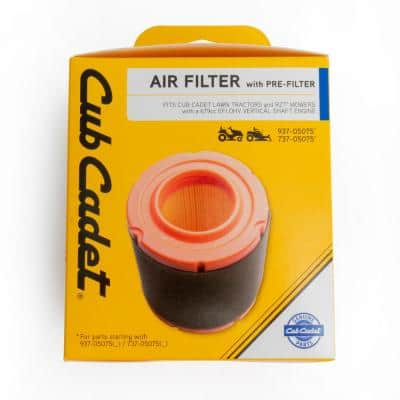 Origional Equipment Air Filter for Cub Cadet 679cc Engines with Pre-Filter Included OE# 737-05075
