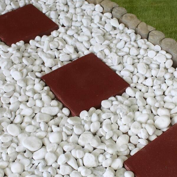 20 Lb Large Snow White Pebbles, White Garden Rocks Home Depot