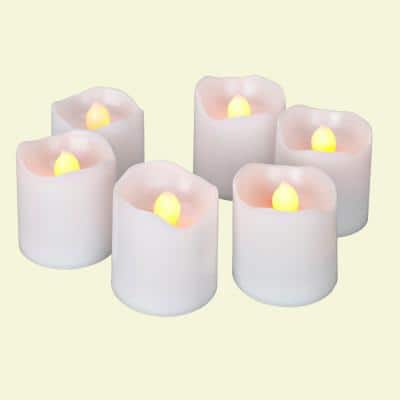 Battery Operated White Super Bright Votive Candle (Pack of 6)