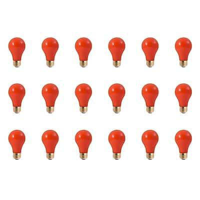 60-Watt A19 Ceramic Orange Dimmable Incandescent Light Bulb (18-Pack)