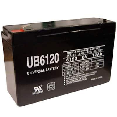 6-Volt 12 Ah F1 Terminal Sealed Lead Acid (SLA) AGM Rechargeable Battery