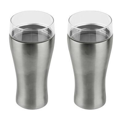 Silver Beer Kuzie 2-Pack