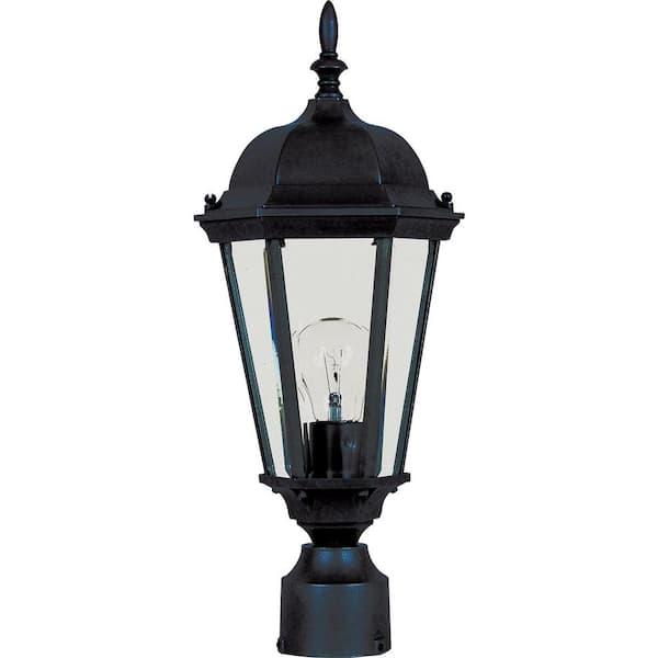 Maxim Lighting Westlake 1 Light Black Outdoor Pole Post Mount 1001bk The Home Depot
